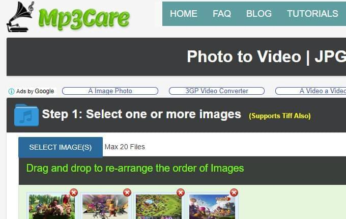 add images to MP3Care